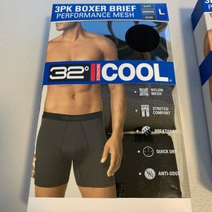 32 Degrees Cool 3 Pack Performance Boxer Briefs